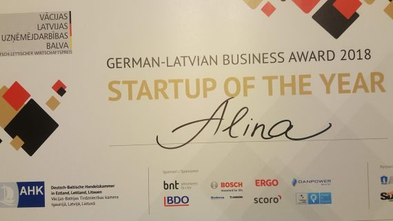 German-Latvian Business Award 2018 to ALINA